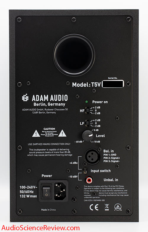 Adam T5V Review Studio Monitor Powered Speaker Back panel XLR.jpg