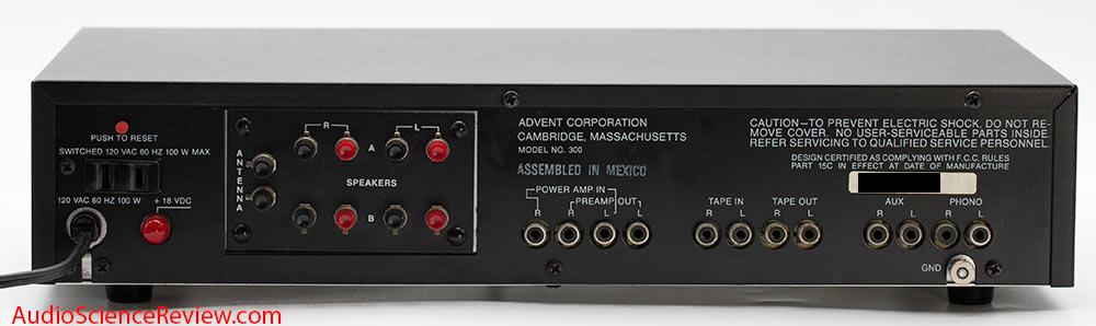 Advent Model 300 Receiver Vintage Back Panel Inputs Audio Review.jpg