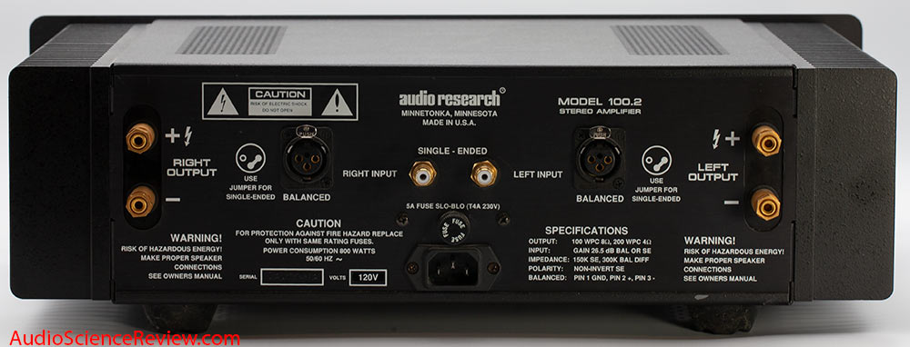 Audio Research Corporation ARC 100-2 Stereo Power Amplifier Back Panel Audio Review.jpg