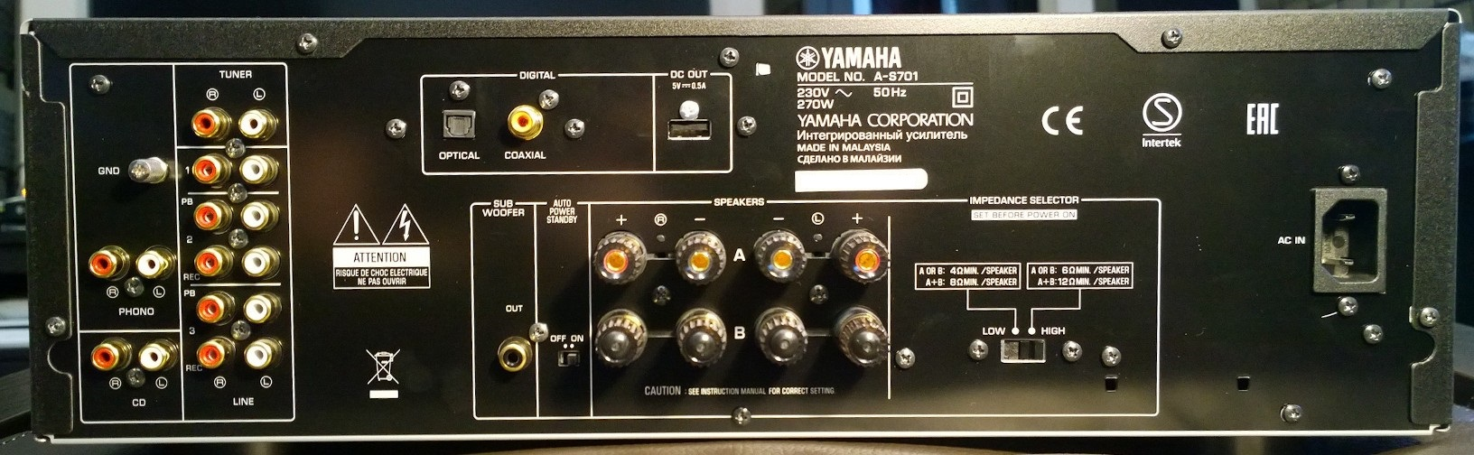 Yamaha A S701 Tear Down Thoughts About The Internals