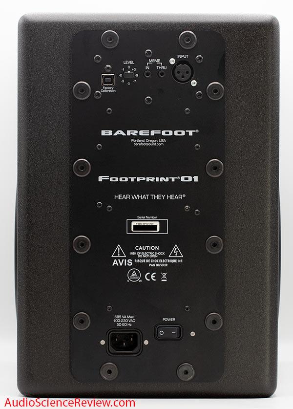 Barefoot Footprint 01 review back panel controls studio monitor.jpg