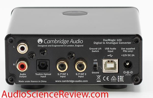 Cambridge DacMagic 100 USB DAC Back Panel Inputs Audio Review.jpg