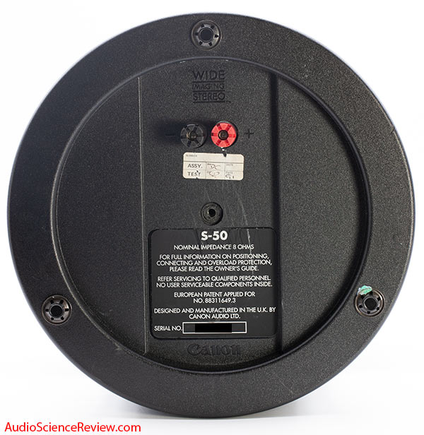 Canon S-50 wide dispersion speaker Bottom Speaker Connections review.jpg