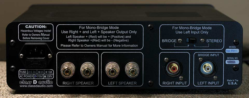 Class D Audio CDA-250C Amplifier Back Panel Audio Review.jpg