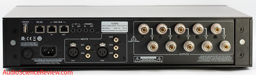 Classe Sigma AMP5 Five-Channel Digital Amplifier Multichannel Amplifier Class D Digital Back P...jpg
