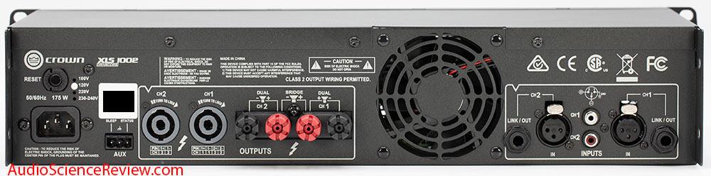 Crown XLS1002 Rackmounted Pro Amplifier stereo review back panel speakon XLR.jpg