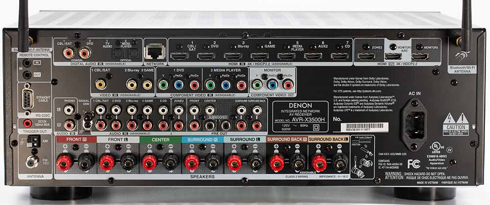 Denon AVR-3500H Audio Video Receiver Home Theater Back Panel Connectors Review.jpg