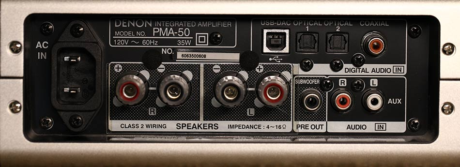 Denon PMA-50 Digital Amplifier Back Panel Audio Review.jpg