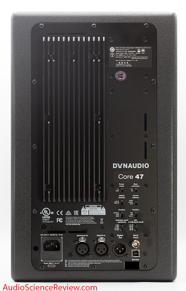 Dynaudio Core 47 Review DSP Back Panel AES Professional Monitor.jpg