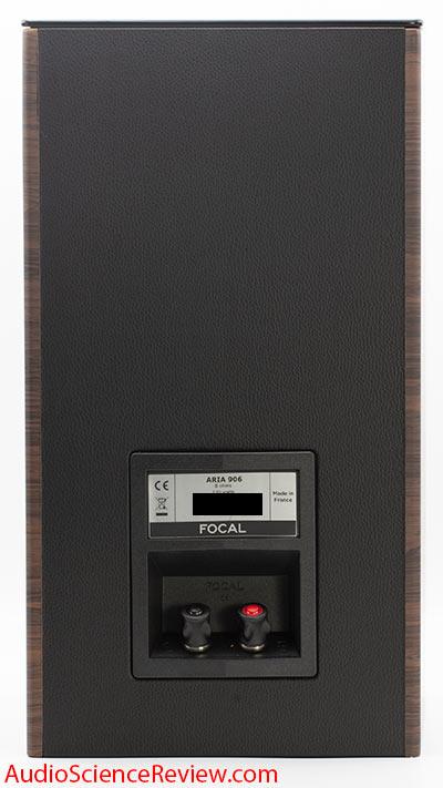 Focal Aria 906 Bookshelf Stand mount speaker back panel binding posts stereo review.jpg