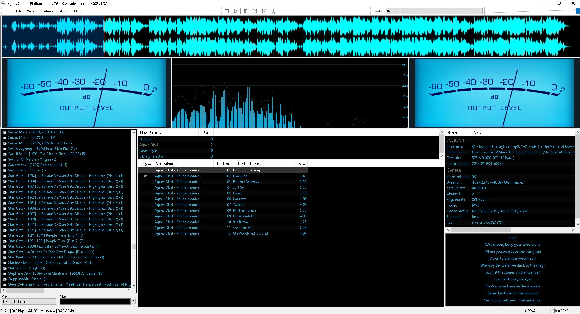 foobar2000 modular freeware audioplayer for Windows