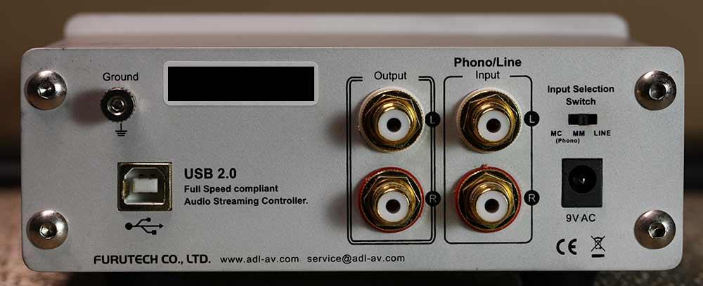 FURUTECH ADL GT40 DAC Phono Preamplifier Back Panel Reivew.jpg