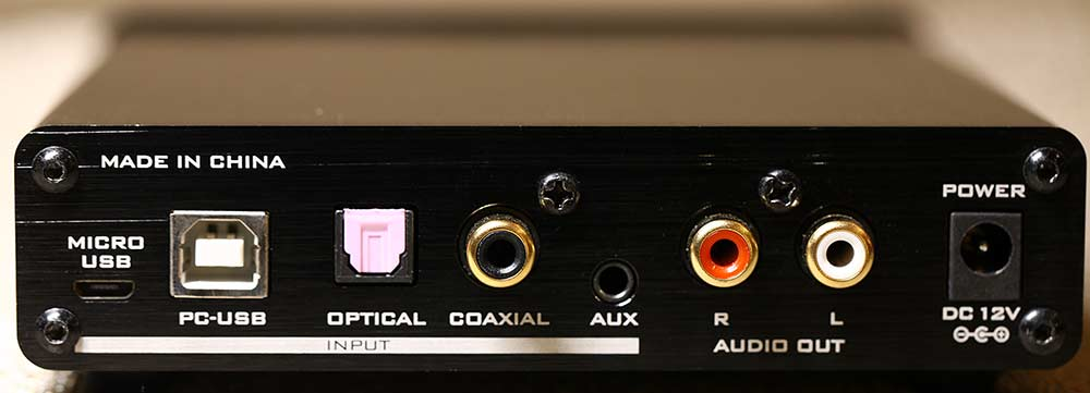 FX Audio DAC-X7 DAC and Headphone Amplifier Back Panel Audio Review.jpg