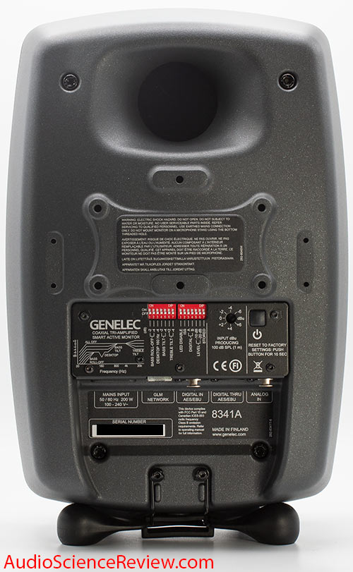 Genelec 8341A SAM™ Studio Monitor Powered Speaker Back Panel Switches Connectors Audio Review.jpg