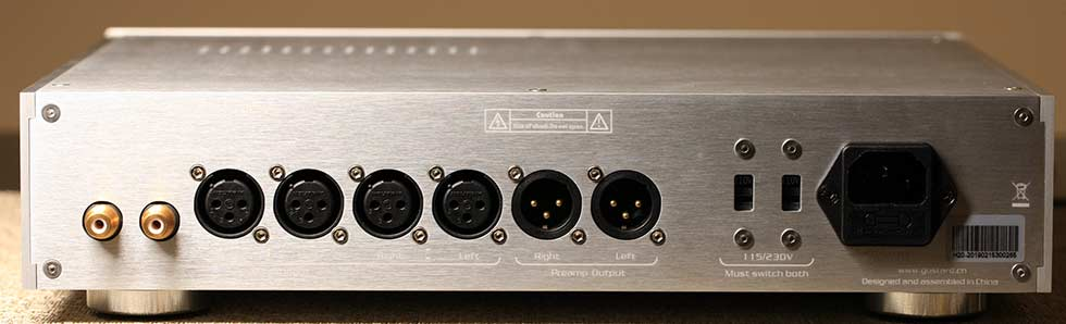 Gustard H20 Balanced Headphone Amplifier Audio Review Back Panel.jpg