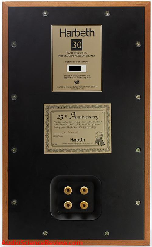 Harbeth Monitor 30 Speaker Back Panel Connectors Review.jpg