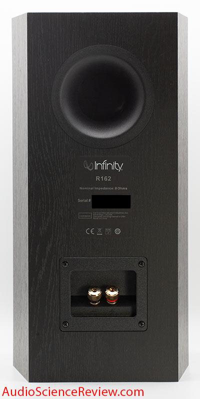 Inifinity R162 Bookshelf Home Theater Speaker Back Panel Binding Posts Review.jpg