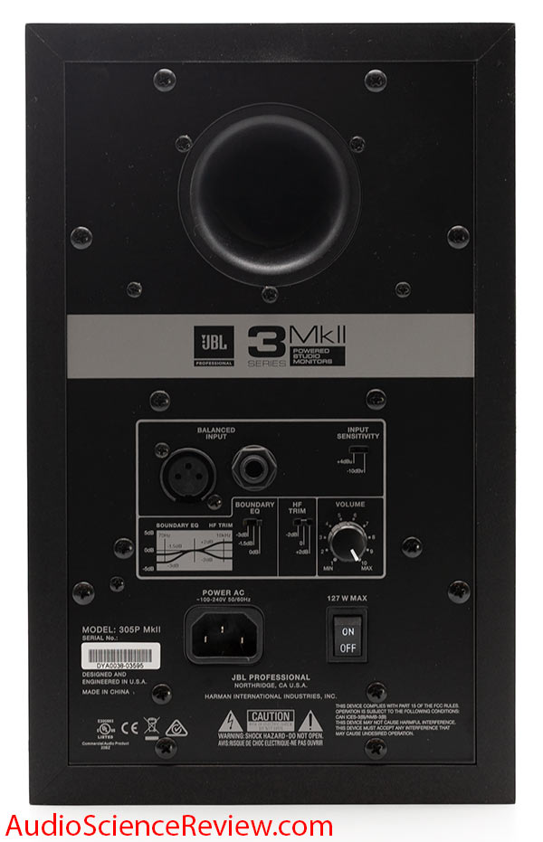 JBL 305p MKii Speaker Powered Monitor Back Panel Connectors Review.jpg