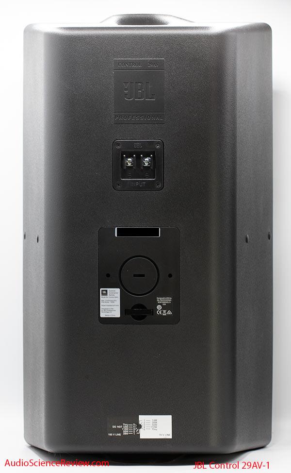 JBL Control 29AV-1 Review back panel Outdoor PA Speaker.jpg
