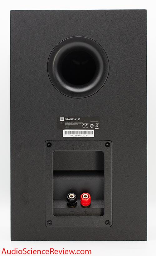 JBL Stage A130 Review back panel port bookshelf speaker.jpg