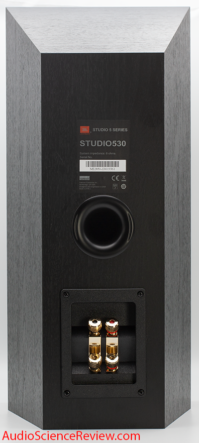 JBL Studio 530 Speaker Monitor Back Panel binding posts Audio Review.png