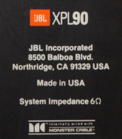 JBL XPL90 two-way bookshelf speaker Back Panel.jpg