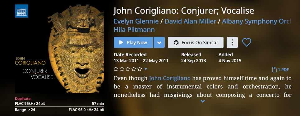 John CORIGLIANO Conjurer  Vocalise Album.jpg