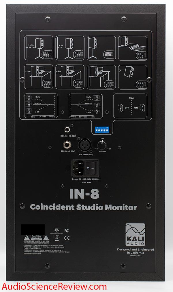 KALI AUDIO IN-8 Studio Monitor Powered Speaker Back Panel Connectors Review.jpg