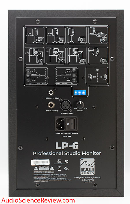 Kali LP-6 Review 2-way Monitor back panel inputs dip switches.jpg