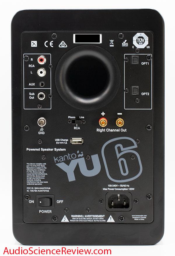 Kanto YU6 Review back panel Powered Speaker Monitor.jpg