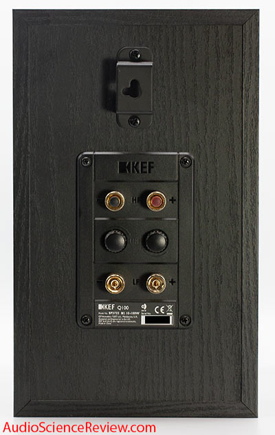 KEF Q100 Bookshelf Speaker Coaxial Driver Back Panel Bi-wire Audio Review.jpg