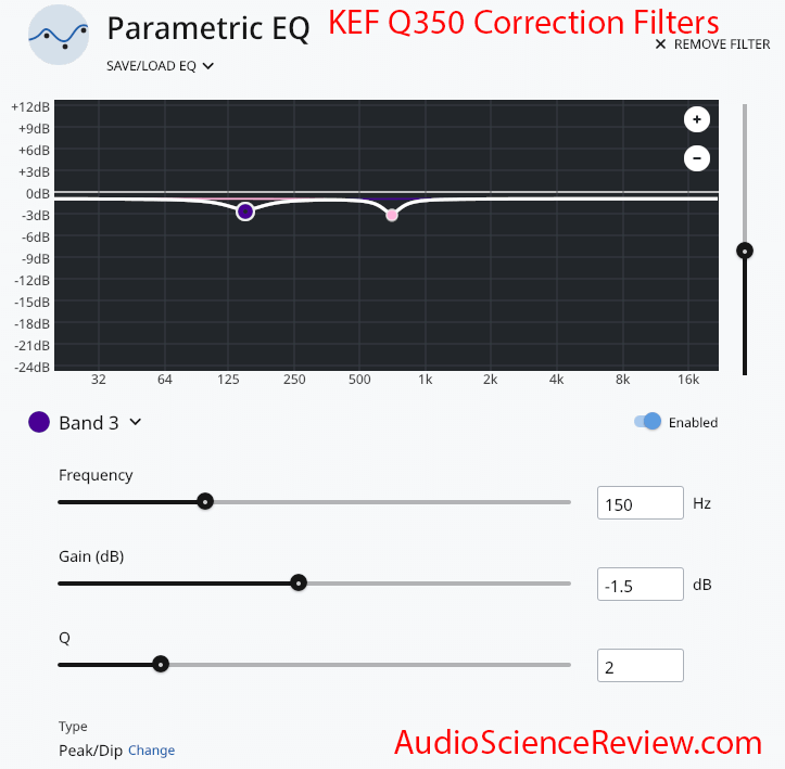 KEF Q350 Bookshelf Speaker Correction Filters Roon.png