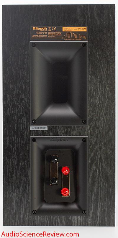 Klipsch RP-600M Bookshelf Speaker Back Panel Connectors Biwire Audio Review.jpg