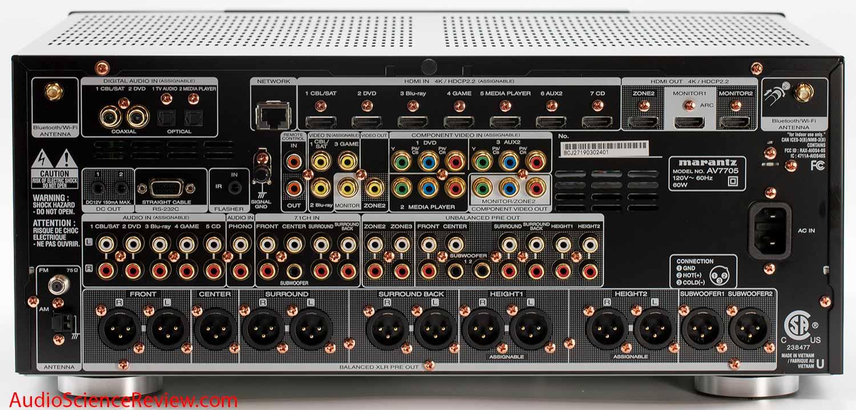 Marantz AV7705 UHD AV Processor Home Theater Surround Back Panel Connectors Review.jpg