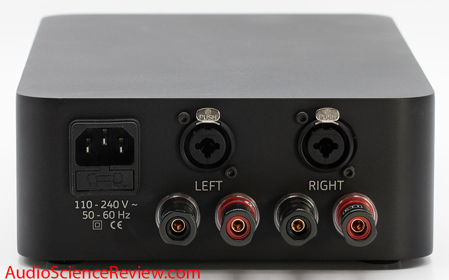 March Audio P122 Hypex Class D Stereo Amplifier Back Panel Speaker Connectors Audio Review.jpg