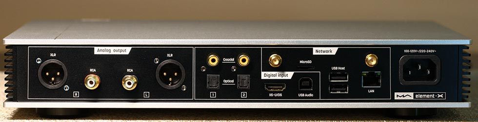 Matrix Audio Element X streaming DAC Back Panel Audio Review.jpg