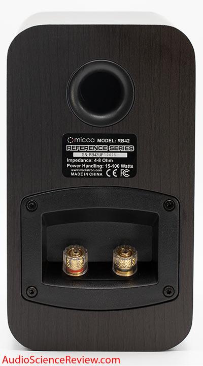 Micca RB42 Bookshelf Budget Speaker Back Panel Connectors Review.jpg