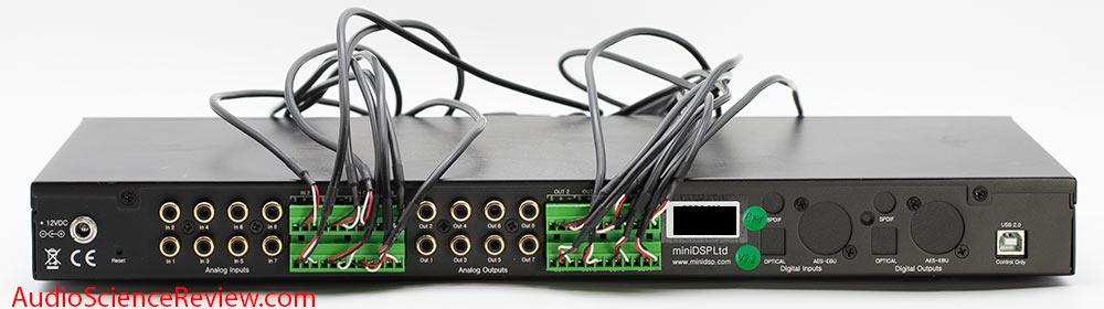 Minidsp DDRC-88A Dirac Live multichannel room correction bakc panel XLR Inputs audio review DSP.jpg