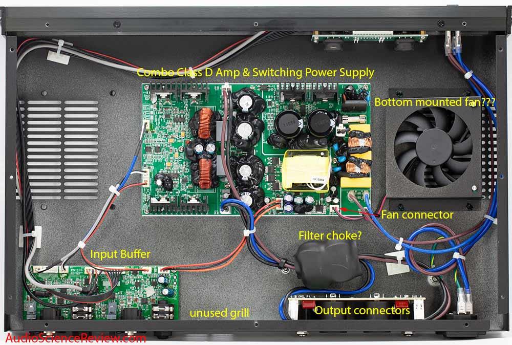 Monoprice 605030 pro amplifier class D teardown.jpg