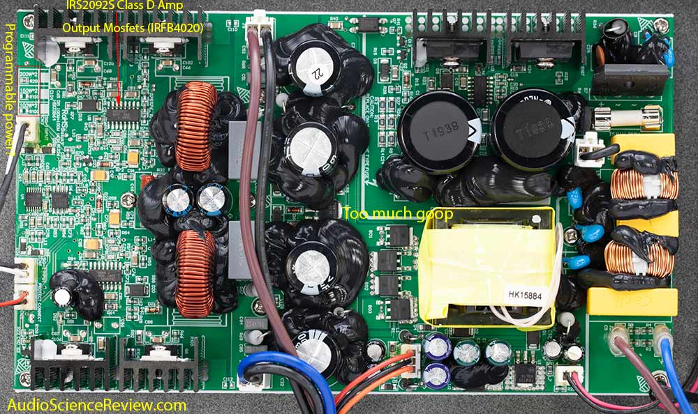 Monoprice 605030 pro amplifier class D teardown Power Supply and Amplifier Module.jpg