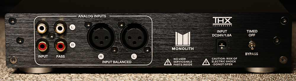 Monoprice Monolith THX AAA 887 Headphone Amplifier Back Panel Audio Review.jpg