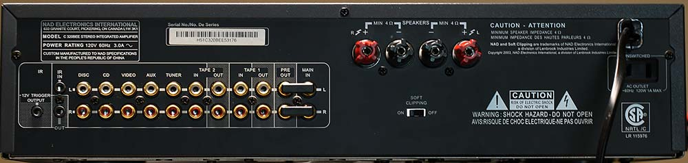 NAD C 320BEE Integrated Amplifier Back Panel Audio Review.jpg