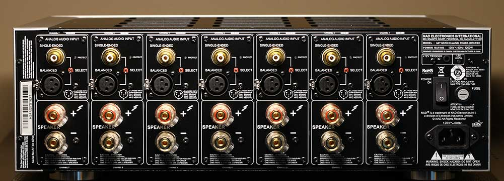 NAD M27 Seven-Channel Amplifier Back Panel Audio Review.jpg