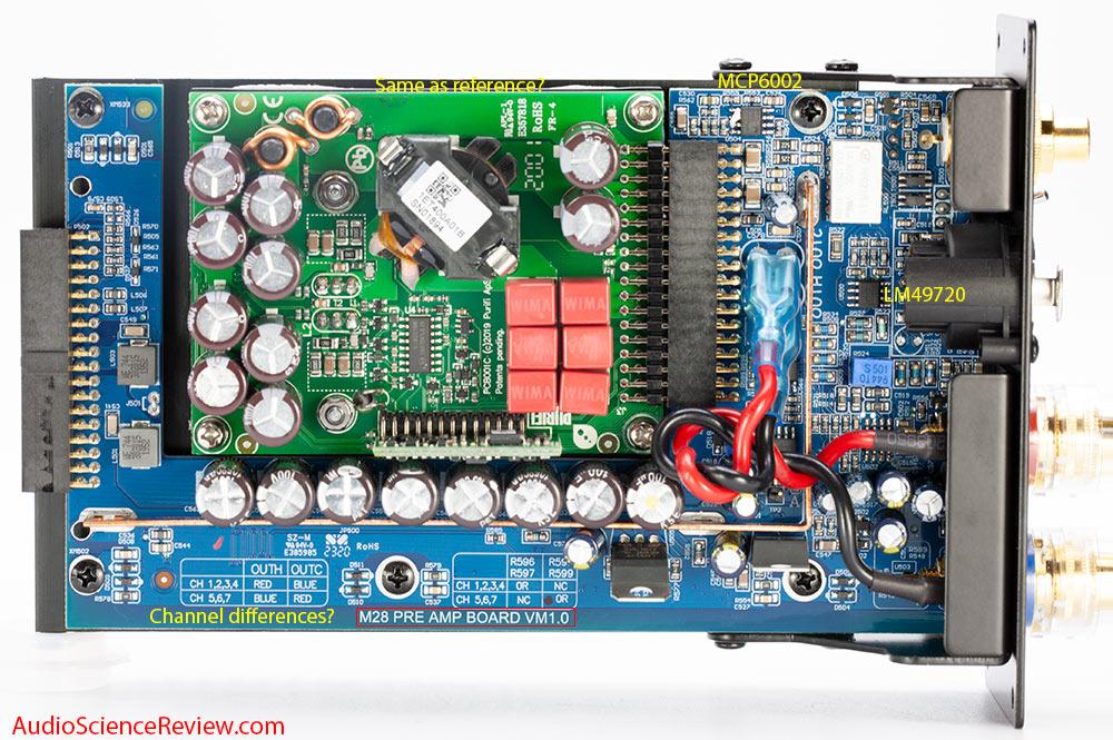 NAD M28 teardown purifi amplifier Module overhead shot.jpg