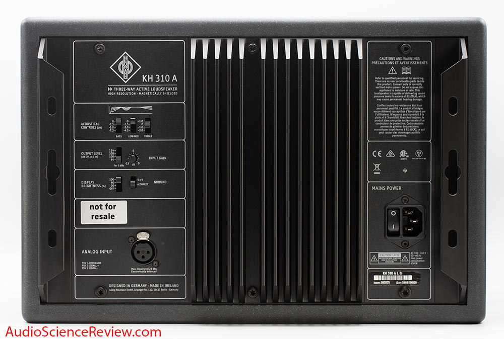 Neumann KH310A Review Rear Panel Input XLR Active 3-way monitor.jpg