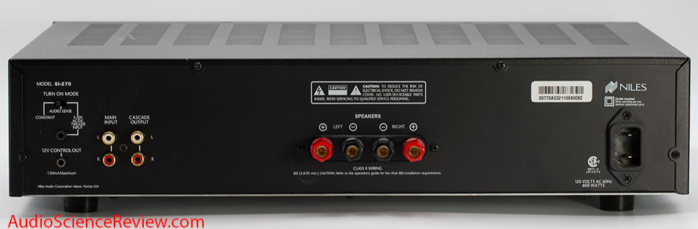 Niles SI-275 stereo amplifier back panel audio review.jpg