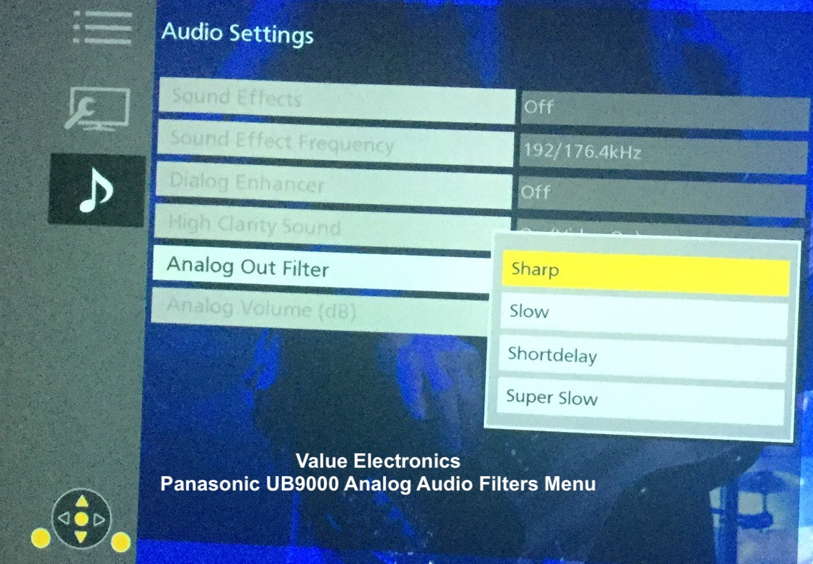 Panasonic UB9000 Analog Audio Filters Menu.jpg