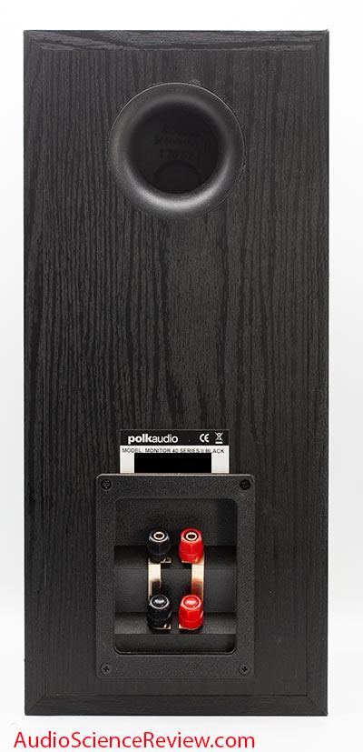 Polk Monitor 40 Series II Review Bookshelf back panel Speaker.jpg