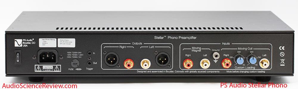 PS Audio Stellar Review MC MM Phono back rear panel Preamplifier.jpg