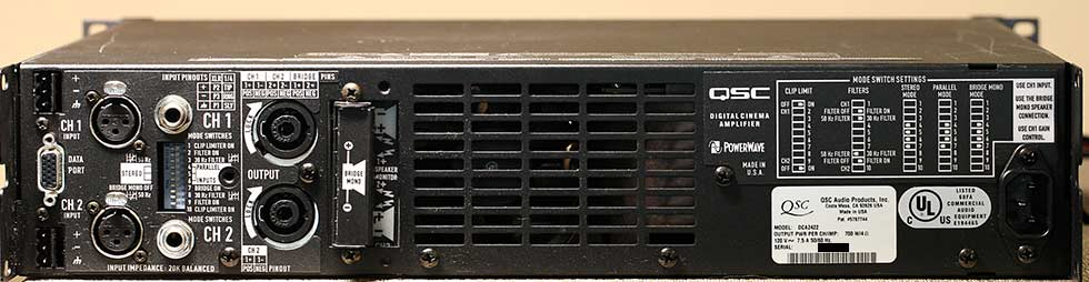 QSC DCA2422 Digital Cinema Amplifier Back Panel Audio Review.jpg